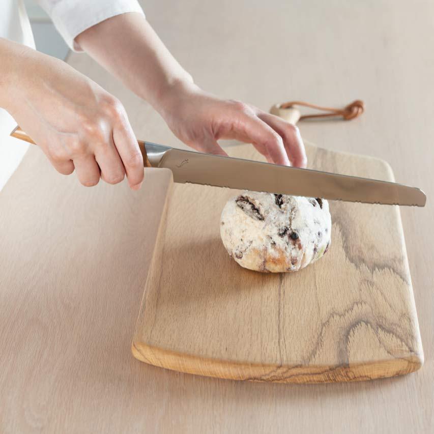 Kasane Bread Knife with Wild Cherry Handle